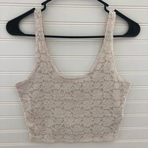 Holloster Lace Crop Top
